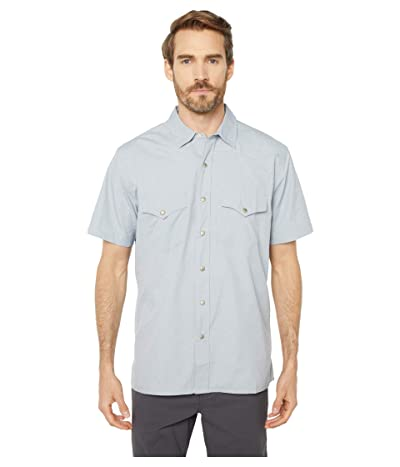 Filson Short Sleeve Snap Front Shirt (Bluestone) Men