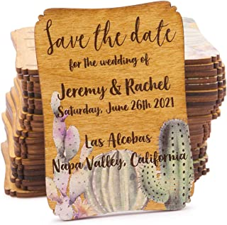 rustic wooden save the date magnets