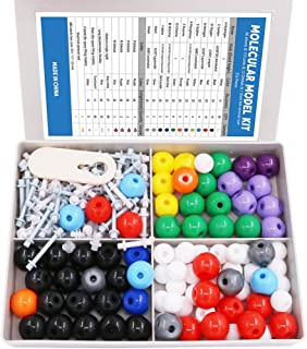Swpeet 240 Pcs Organic Chemistry Molecular Model Student and Teacher Kit, Chemistry Molecular Model Student and Teacher Set - 86 Atoms & 153 Bonds & 1 Short Link Remover Tool