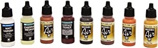 Vallejo Model Air Rust and Chipping Effects Acrylic Paint Set for Air Brush - Assorted Colours (Pack of 8)