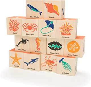 Uncle Goose Ocean Blocks - Made in The USA