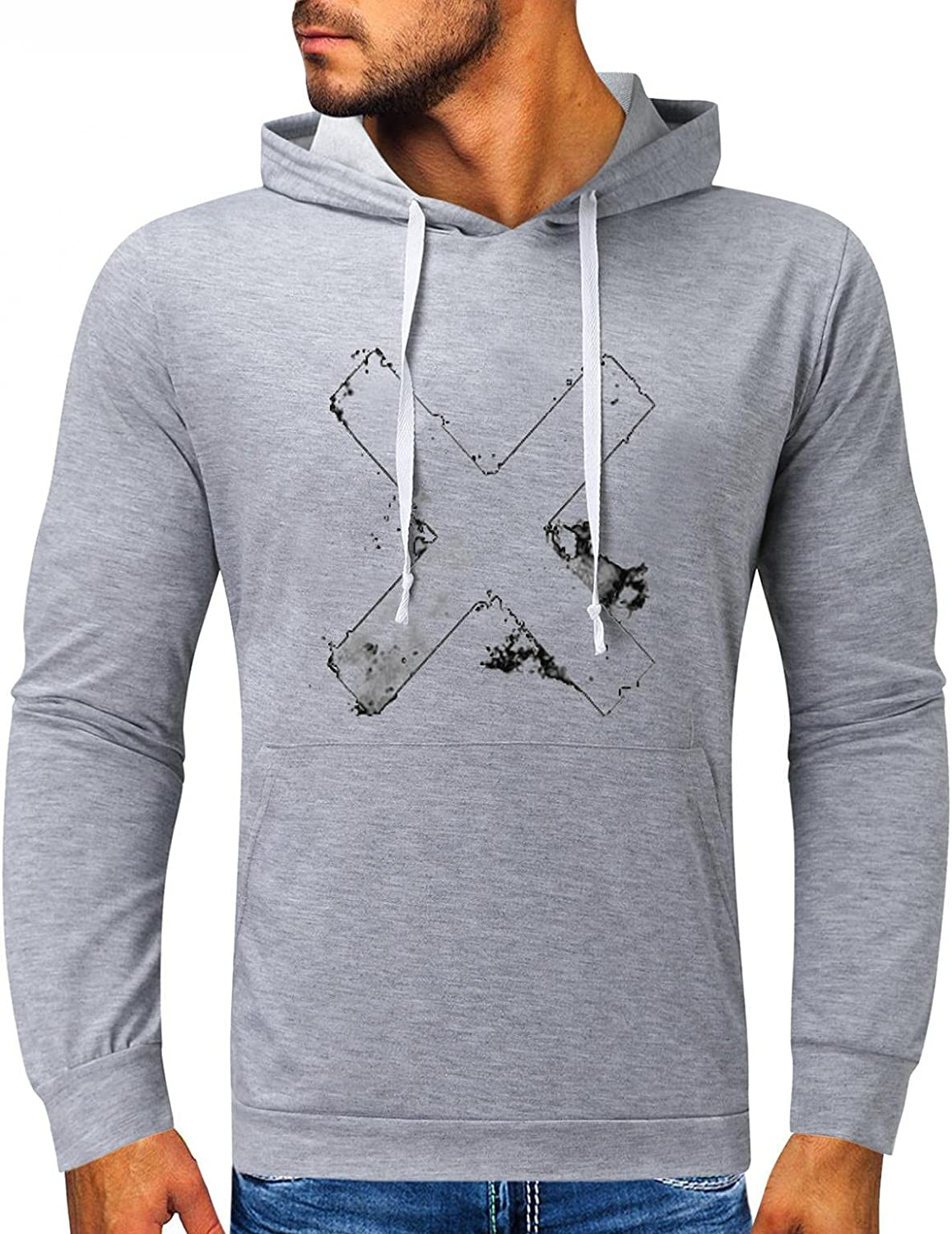 Qsctys Hoodies for Men - Slim Cotton Lightweight Casual Sweatshirts Pullover Hooded T Shirts Drawstring Hoodie with Pocket