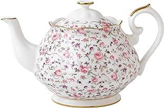 Royal Albert Rose Confetti Formal Vintage Teapot, White