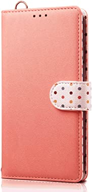 LindaCase PU Leather Flip Cover Compatible with Samsung Galaxy S10 Plus, Pink Wallet Case for Samsung Galaxy S10 Plus