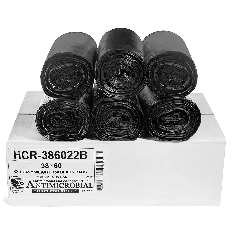 Aluf Purchase Safety and trust Plastics 55-60 Gallon Black Trash x Bags - 150 38