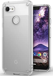 Ringke Fusion Compatible with Pixel 3 XL Case, Clear Transparent PC Back TPU Bumper Drop Defense Raised Bezels Scratch Protection Natural Form Cover for Google Pixel 3XL - Clear