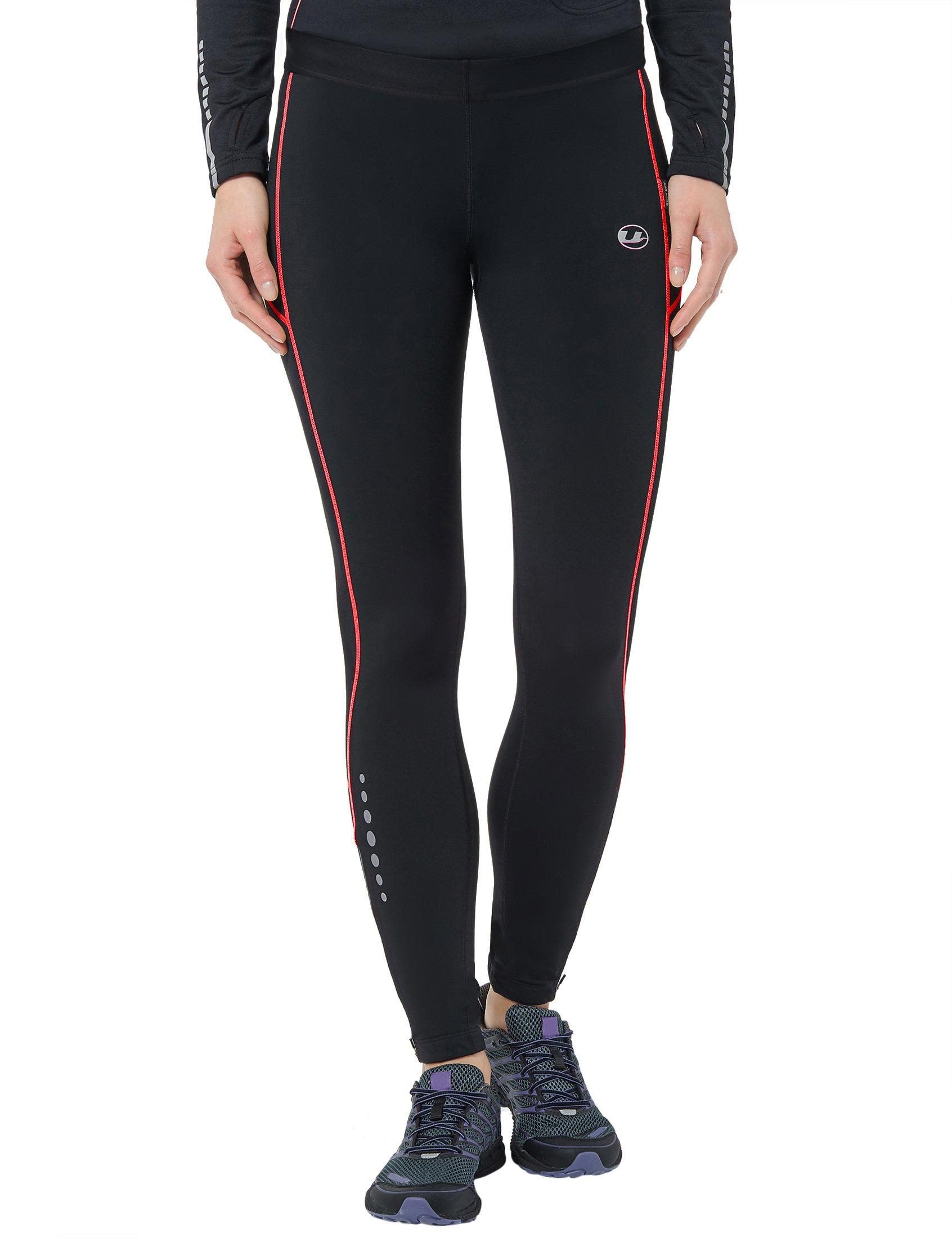 Ultrasport Damen Laufhose lang, black dubarry, S, 10127