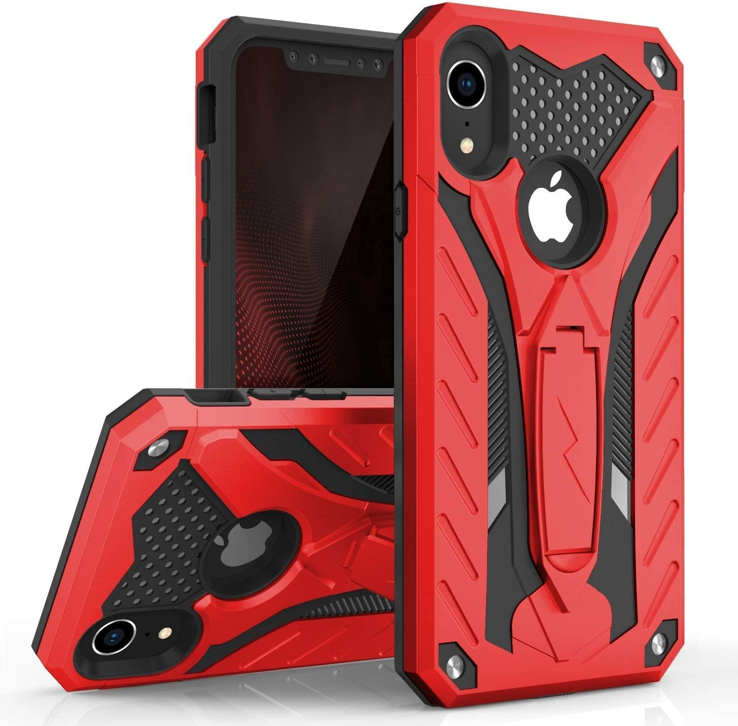 ZIZO Static Series for iPhone XR Case Military Grade Drop Tested with Built in Kickstand (Blue/Black)