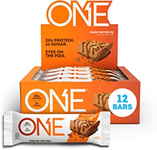 ONE Protein Bars, Peanut Butter Pie, Gluten Free Protein Bars with 20g Protein and only 1g Sugar, Guilt-Free Snacking for ...