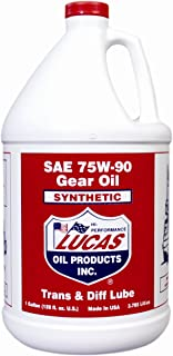 Lucas Oil 10048-PK4 75W90 Synthetic Gear Oil - 1 Gallon Jug, Pack of 4