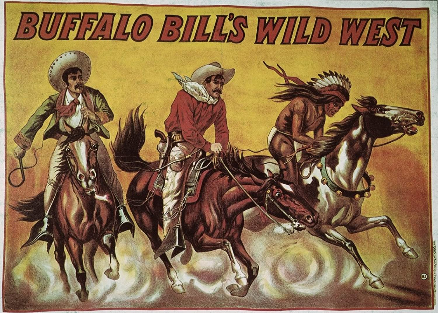 WF Cody Poster 1905 Nprinted In Paris For A European Tour Of Buffalo Bill CodyS Wild West Show Poster Print by (24 x 36)