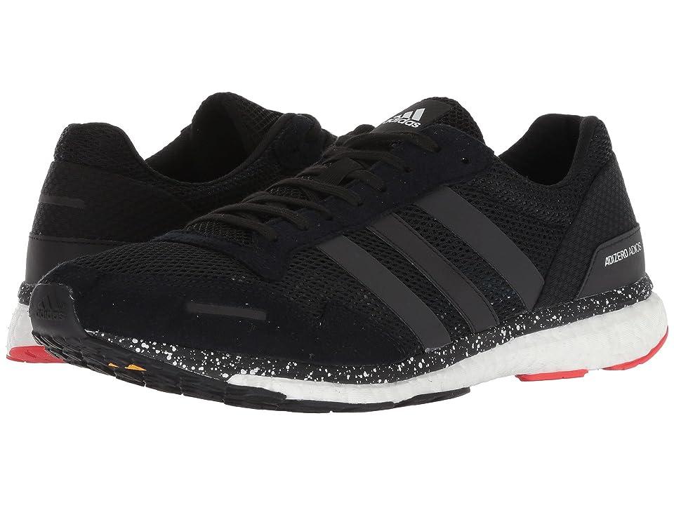 Image of adidas Running Adizero Adios 3 (Hi-Res Red/Black/Bright Blue) Men's Shoes