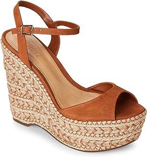a3b5e0e7ce5c SCHUTZ Women s Saddle Malinda Veridiane Autumn Brown Espadrille Platform  Wedge Sandals