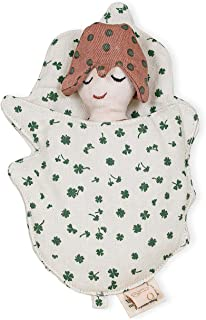 OYOY Mini – Set av dockor/dockor sovsäck Ella the Elf för barn pojkar flickor – brun ekologisk bomull – 20 x 13 cm