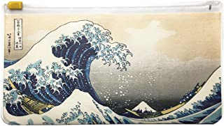Portable Type Mask Carry Case with Japanese Traditional YUKIYOE Art. Made in Japan. (Hokusai Waves)