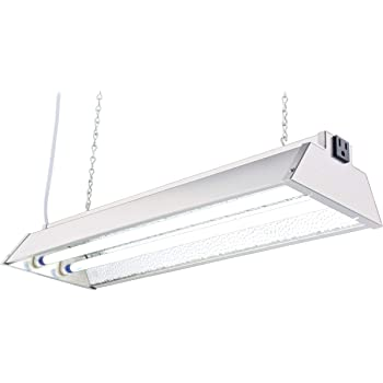 """Durolux DL822N T5 HO 2Ft 2 Fluorescent Lamps Grow Lighting System with 5000 Lumens and 6500K Full Spectrum and Low Profile 7"""" Wide Reflector"""