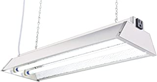 Durolux DL822N T5 HO 2Ft 2 Fluorescent Lamps Grow Lighting System with 5000 Lumens and 6500K Full Spectrum and Low Profile...
