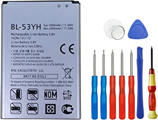 Wee BL-53YH 3000mAh Replacement Li-ion Battery for LG G3 D852, D855, D850 AT&T, D851 T-Mobile, VS985 Verizon, LS990 Sprint   G3 Spare Battery