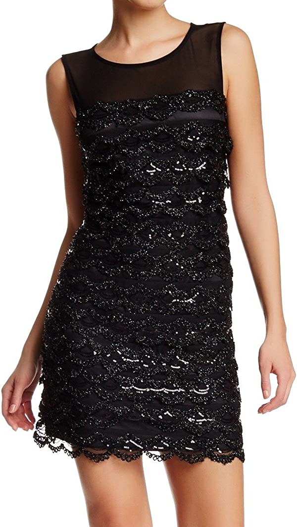 Jessica Simpson Women's Sleeveless Tiered Sequin Department store Dress Max 84% OFF