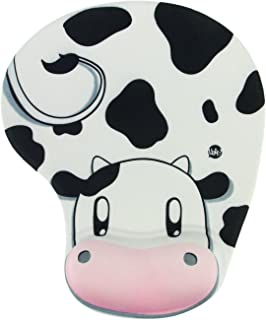 Onwon High Quality Cartoon Wrist protected Personalized Computer Decoration Gel Wrist Rest Mouse Pad Ergonomic Design Memory Foam Mouse Pad Gel Mouse Pad/Wrist Rest(Cow Style)