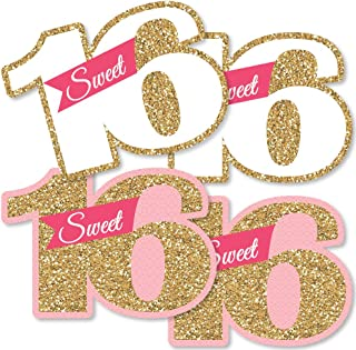 Big Dot of Happiness Sweet 16 - Decorations DIY 16th Birthday Party Essentials - Set of 20