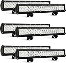 Nilight 6PCS 20 Inch 126W LED Light Bars Spot Flood Combo Led Off Road Driving Lights Led Fog Lights Jeep Lights Boat Lighting LED Work Light, 2 Years Warranty