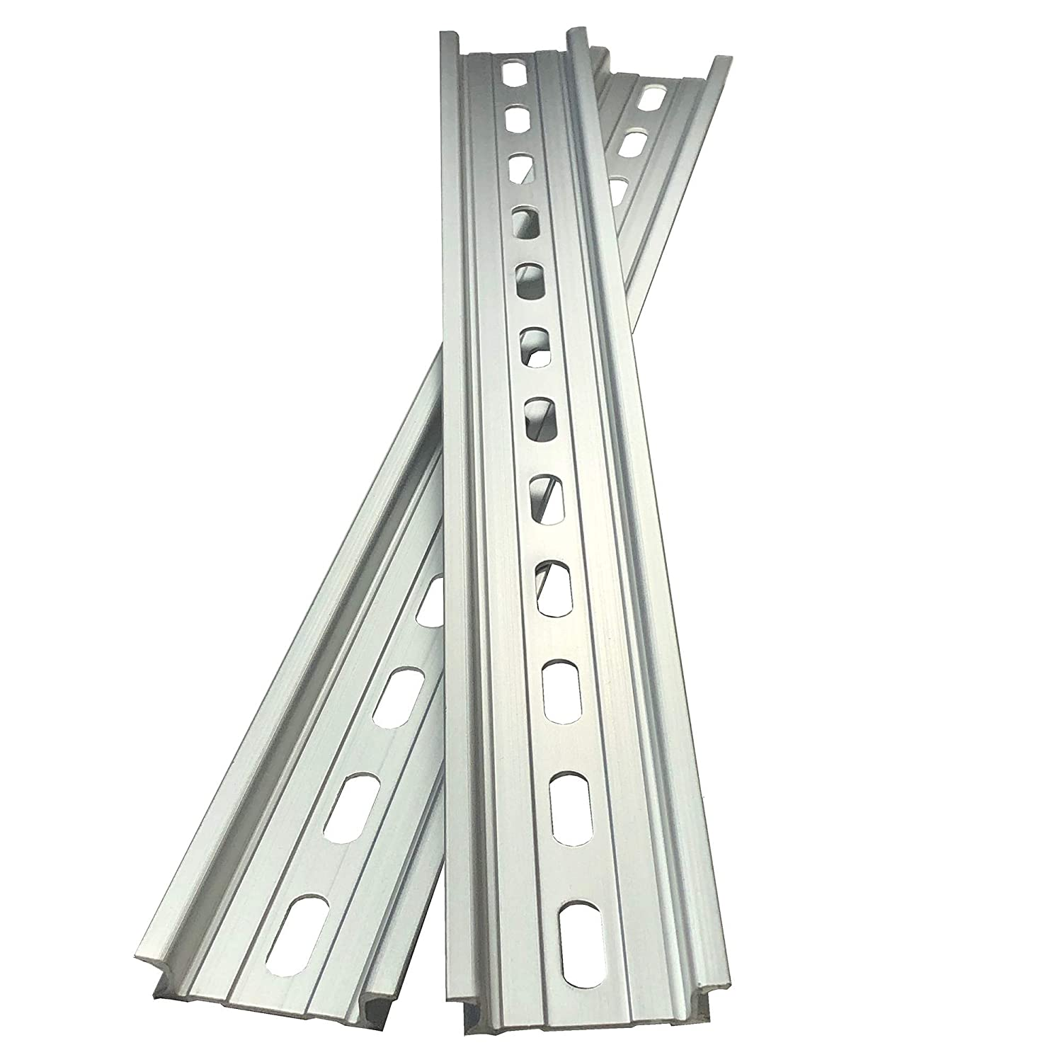 2 Pieces DIN Rail Slotted Aluminum RoHS 12