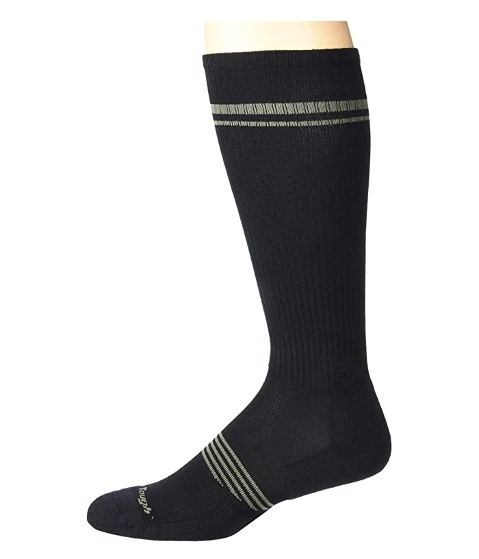 Darn Tough Vermont  Element Over the Calf Lightweight with Cushion with Graduated Light Compression (Black) Mens Crew Cut Socks Shoes