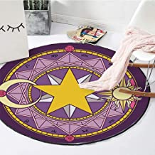 Rugs Crystal Velvet Round Children's Creeping Pad Washable Machine Washable Warm Wearable Carpet,3,60cm