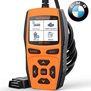 AUTOPHIX 7810 BMW Full-Systems Scanner OBD2 Code Reader Diagnostic Scan Tool with Engine/EPB/SAS/EGS/DME/DDE/CBS/ECU/F Cha...