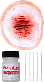 Forensic FX Small Scratches Kit, Pre-Colored Silicone Prosthetic Appliance, Cotton Swabs and 1oz Pros-Aide Adhesive, Speci...