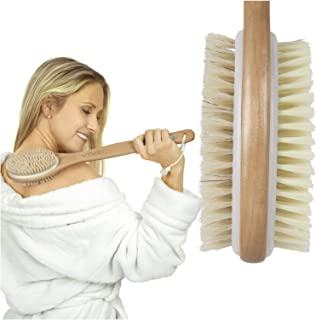 Vive Shower Brush – Dry Skin Body Exfoliator – Shower and Bath Scrubber For..
