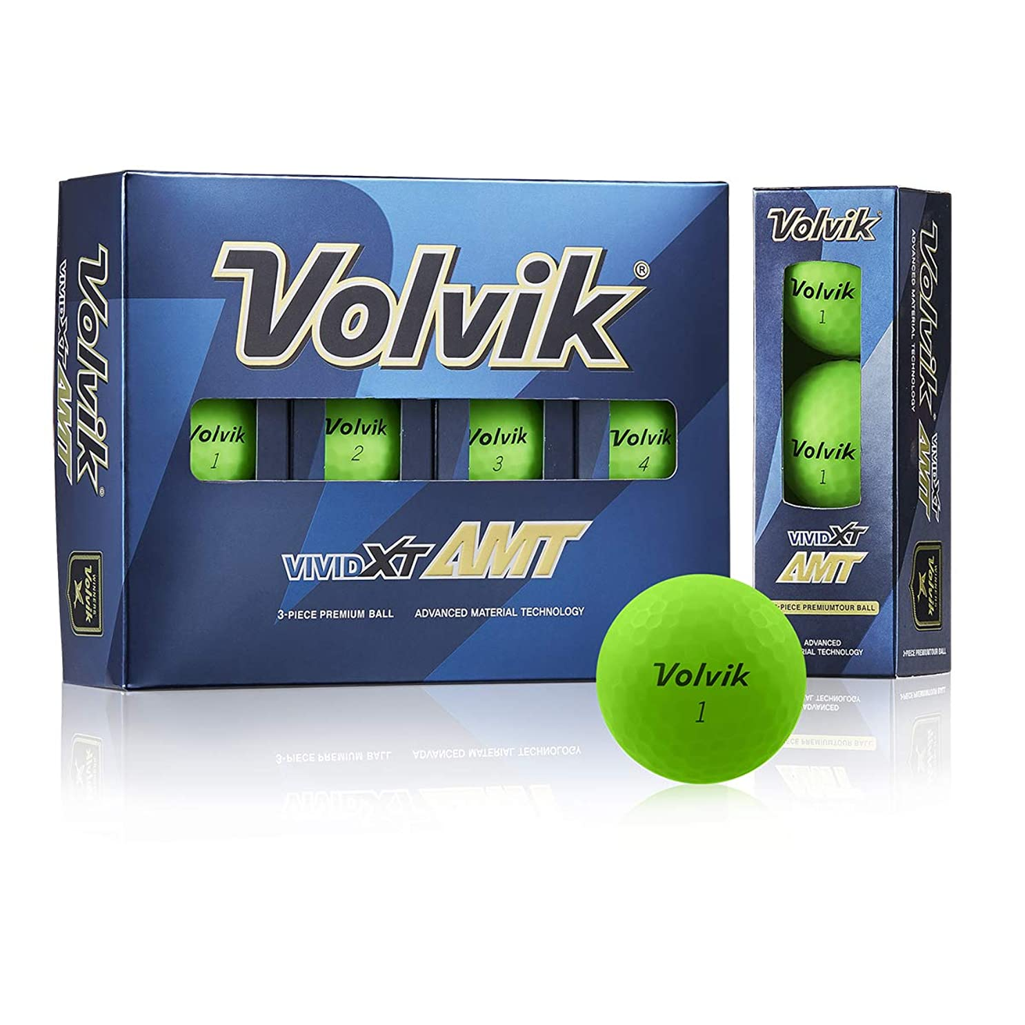 もし塗抹Volvik(ボルビック) ゴルフボール VIVID XT AMT ゴルフボール(1ダース) グリーン