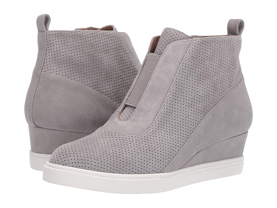 674c7bfa65e1 LINEA Paolo Anna Wedge Sneaker (Rock Perf Kid Suede) Women s Wedge Shoes