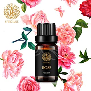 Aromatherapy Rose Essential Oil, 100% Pure Essential Oil Rose Scent for Diffuser, Humidifier, Massage, Aromatherapy, Therapeutic Grade Aromatherapy Rose Essential Oil 0.33 oz - 10ml