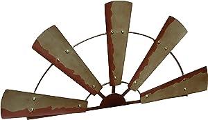 Boston Warehouse Schild, rustikales Landhaus-Design, aus recyceltem Holz Half Windmill Wall Décor