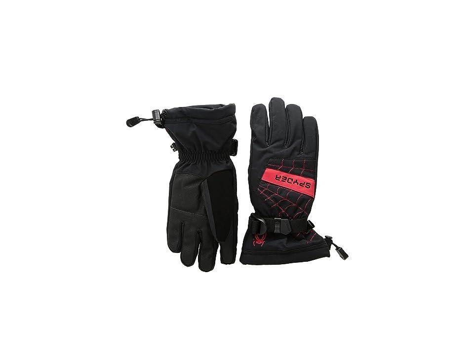 Spyder Kids Overweb Ski Gloves (Little Kids/Big Kids) (Black/Red) Ski Gloves