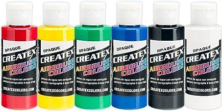 6 Createx primaire Airbrush kleuren Paint Kit 2 Oz. Flessenset
