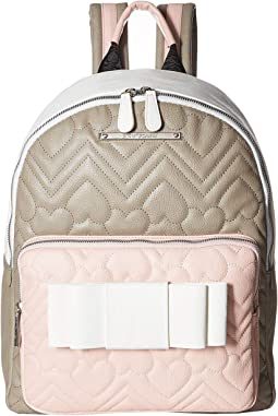 Rose Chevron Bow Backpack