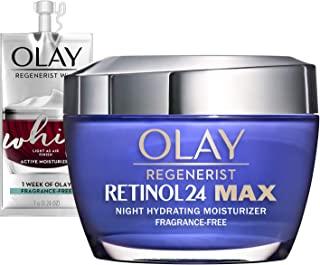 مرطوب کننده Olay Regenerist Retinol 24 Max ، کرم صورت شب Retinol 24 Max ، بسته نرم افزاری سفر / اندازه آزمایشی 1.7 Oz Whip Face