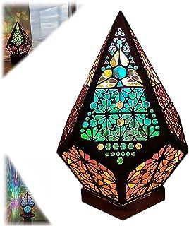 Grand lampadaire étoile polaire, LED Lampes de diamant colorées, lampe creuse de projection 3D, Bohemian Floor Night Ligh...