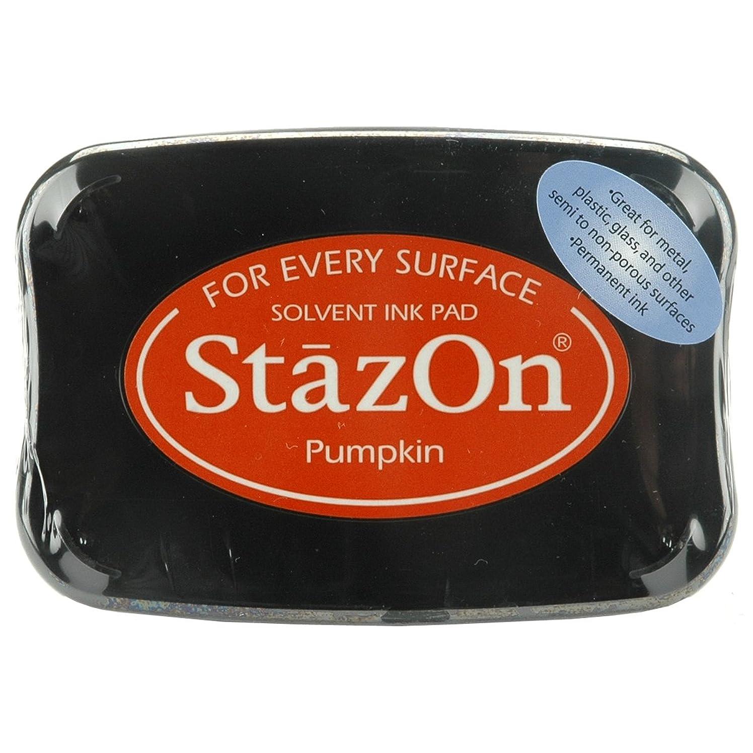Tsukineko, StazOn, Full Size Ink Pad, Pumpkin