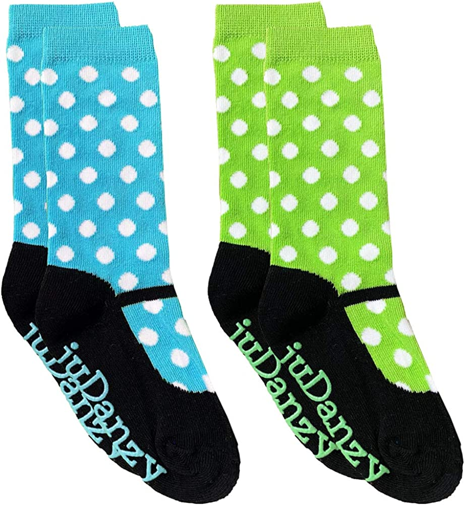 juDanzy Baby and Toddler and Girls Funky Mid Calf and Tall Knee High Socks (2 or 4 Pack)