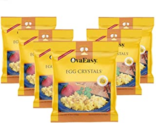 OvaEasy Dehydrated Egg Crystals – 4.5oz. (128g) Bag – Powdered Eggs Made From All-Natural Ingredients – Easy-To-Prepare Eg...