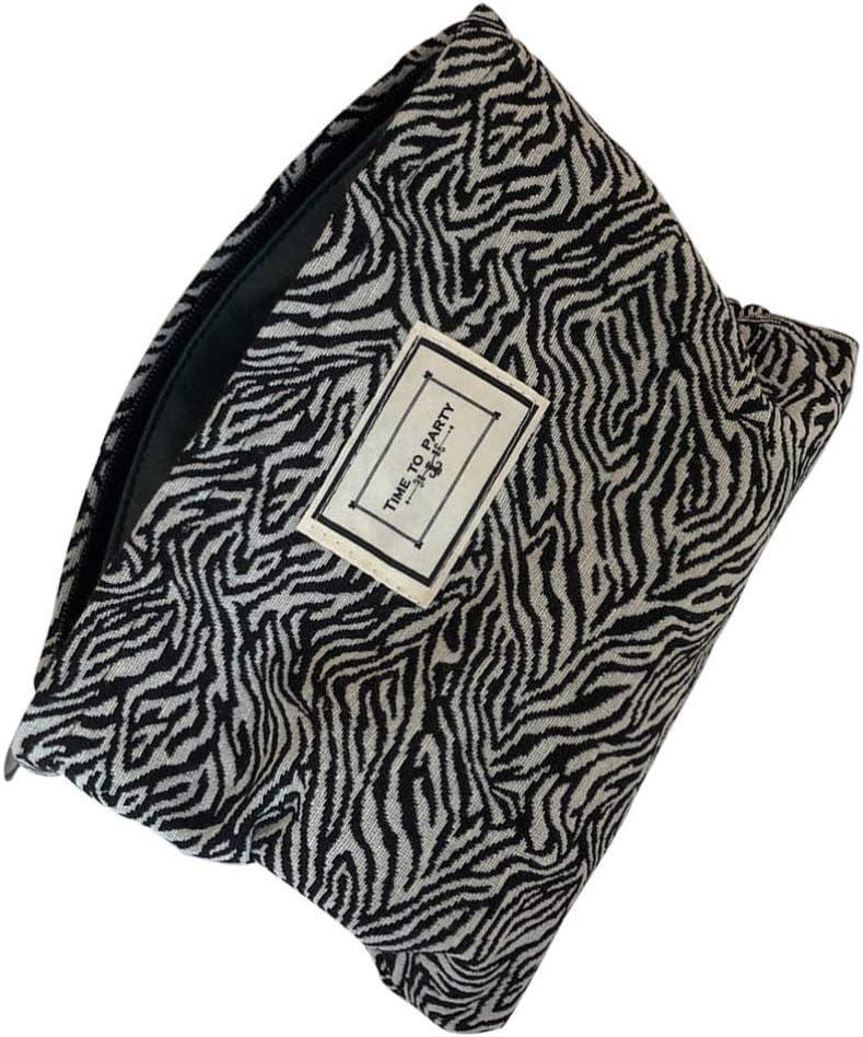 Cabilock Bolsa de Maquillaje de Viaje con Estampado de Leopardo Organizador de Bolsas de Cosméticos Estuche de Baño Estuche de Tren Bolsas de Regalo de Lona para Mujeres Y Niñas