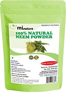 Natural Neem Powder (Azardirachta Indica) 227 Gram (0.5 lb) Non GMO supplements for glowing skin, hair, nails, supports digestion, anti-oxidant, supports healthy blood sugar, cholesterol, more