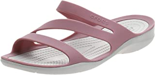 Crocs Swiftwater Womens Open Toe Sandals, Cassis/Pearl White, 38 EU
