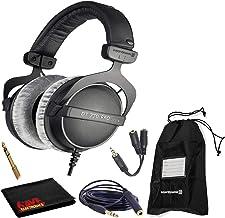 Beyerdynamic DT 770 Pro 250 Ohm Closed-Back Studio Mixing Headphones Bundle -Includes- Soft Case, Headphone Splitter and E...