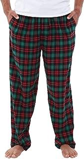 Men's Lightweight Flannel Pajama Pants, Long Printed Cotton Pj Bottoms
