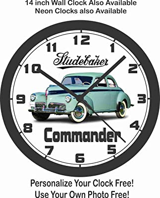 amazon jim s classic clocks 1976 ford f 100 pickup truck big 10 1956 Ford F100 Shelby Inspired 1941 studebaker mander wall clock free usa ship